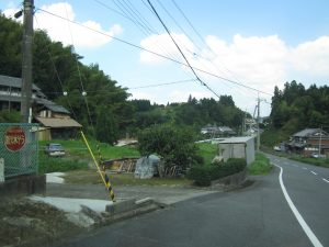 名張市の山道